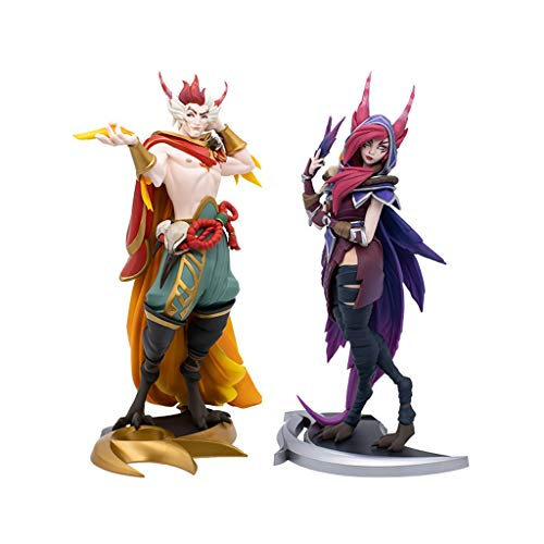 GJLMR LOL Figure Xayah & Rakan PVC Statue XCJSWZZ