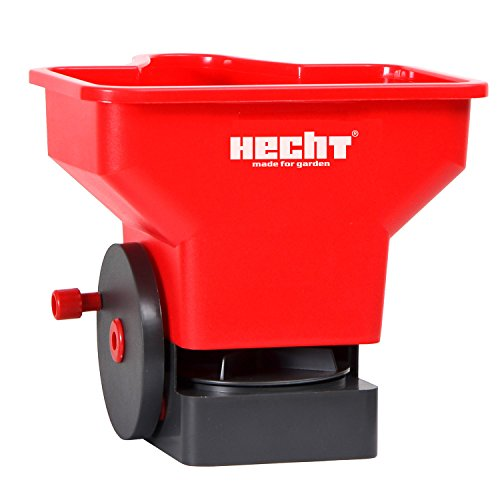 HECHT Universal-Streuer 33 Hand-Streuer Düngerstreuer Salzstreuer (mit ca. 3 Liter Fassungsvermögen)
