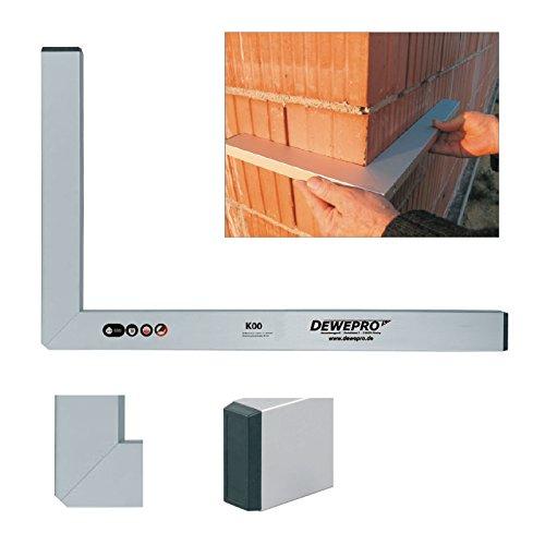 DEWEPRO® Premium Aluminium Bauwinkel 90° - Winkel - Maurerwinkel - Messwinkel - Profilwinkel - Aluwinkel - 150x80cm