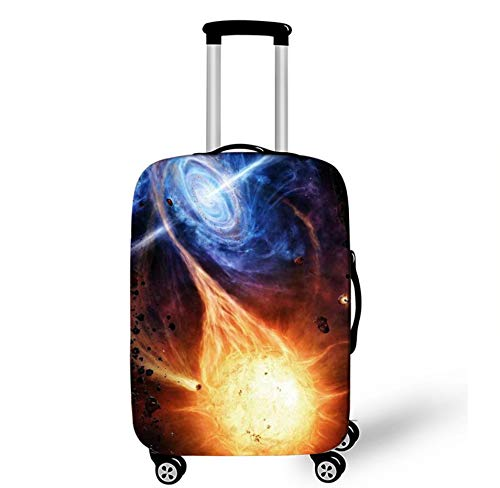 Cartoon Planet Art Design Protector Suitcase Cover Trolley Case Luggage Storage Covers Size M Travel Child Trolley Case Cover 22-25Inch