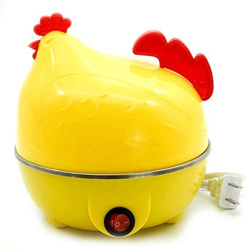 Axjzh Zuhause Eierkocher, Eier Dampfer Huhn geformt Eierkocher Neuheit Küche Kochwerkzeug Heiße Milch Frühstück Ei-Dampfer Elekt.