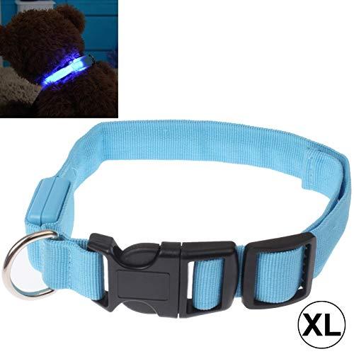 Ysswjzz Hondenhalsband, Zacht En Comfortabel Verstelbare LED-halsband Met 3 Standen Effen Kleurpatroon for Middelgrote Honden-XL