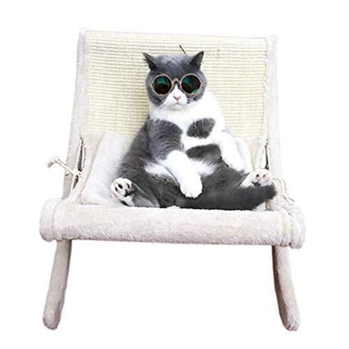 CXYDP Haustier-Nest-Schaukelstuhl Katzenbett Katze Hängematte Kleine Kennel Katze Sisal Kratz Katze Kratzbrett Für Haustier Hund Katze Innen/Außen