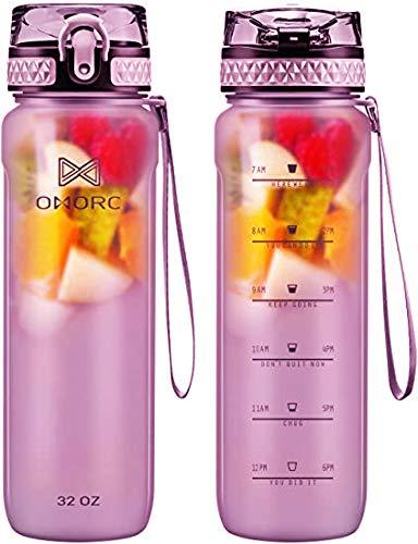 OMORC Botella Agua 900ML Sin BPA de...