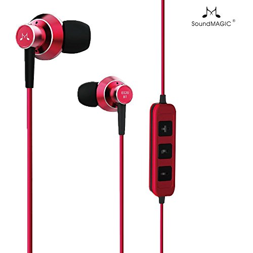 SoundMagic ES**BT Bluetooth Stereo Earphones with Mic (Red)