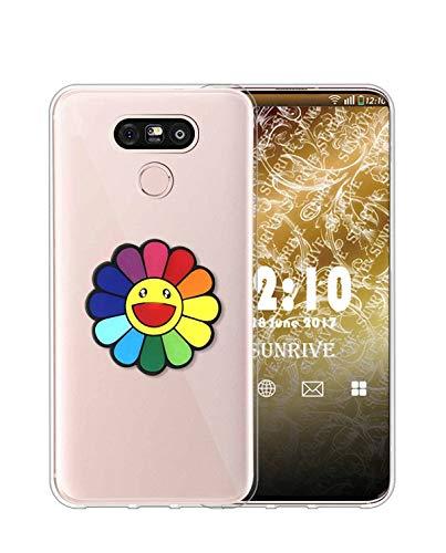 Sunrive Kompatibel mit LG G5 Hülle Silikon, Transparent Handyhülle Schutzhülle Etui 3D Case (A1 Blumen)+Gratis Universal Eingabestift MEHRWEG