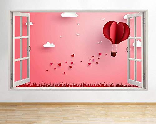 Pegatinas de pared R944 Origami Balloon Hearts Love Window Wall Decal 3D Art Stickers Vinyl Room
