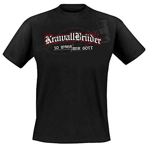 Krawallbrüder - So wahr Mir Gott, T-Shirt [schwarz] Größe M