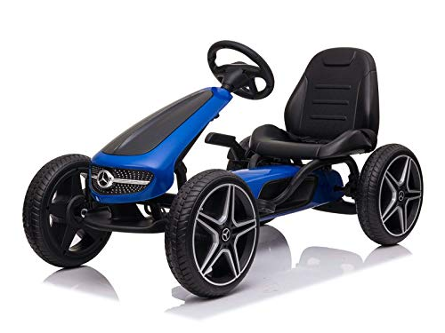 Indalchess Kart Coche DE Pedales Marca Mercedes, Azul, 4 A 8 AÑOS