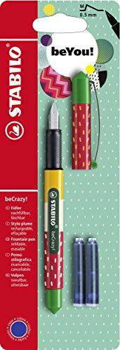 Stabilo becrazy pluma estilográfica con 3azul cartucho de tinta–Fresa