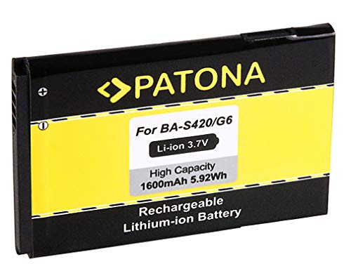 PATONA Batería BA-S420 para HTC 7 Trophy A3333 A6363 Buzz Droid Eris Evo 4G Legend G6 M1 Spark T8686 T8689 Wildfire G8