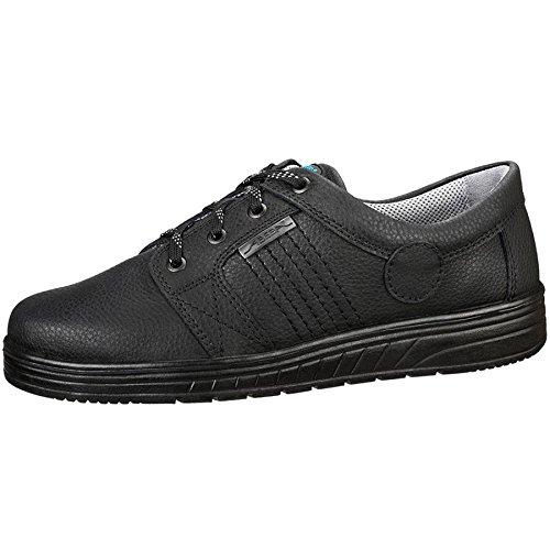 Abeba trabajo zapato de trabajo 2650 negro, piel, bacteriostático, antiestático, CE EN ISO 20347:2012 O1 SRA Blanco blanco Talla:42