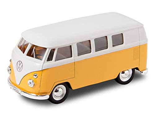 Welly VW Bulli Bus 1963 T1 Modellauto 12 cm Classical Bus Modell Bully (56/0041 VW Bus T1 gelb)