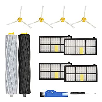 RONGJU Replacement Parts Accessories Compatible with iRobot Roomba 800 Series 850 860 861 864 866 870 871 880 890 891 900 Series 960 961 964 980 981 1 Set Roller Brushes 4 Side Brushes 4 Filters