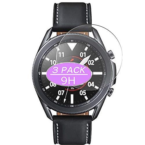 VacFun 3 Piezas Vidrio Templado Protector de Pantalla, compatible con SAMSUNG galaxy watch3 watch 3 41mm, 9H Cristal Screen Protector Protectora Reloj Inteligente NEW Version
