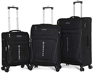 Giordano Luggage Trolley Bags For Unisex 3 Pcs, Black, 744001