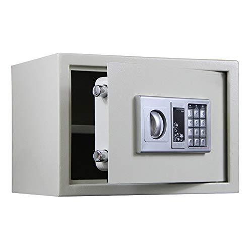Cajas de Caudales Caja de Seguridad Digital pequeña Digital Caja electrónica Caja Fuerte Caja de Almacenamiento Montaje en Pared para Home Business Office Hotel (Color : Silver, Tamaño : One Size)