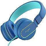 AILIHEN I35 Auriculares para niños con 85dB Volumen de micrófono Limitado Niñas Auriculares con Cable portátiles Ligeros y Plegables de 3,5 mm para Aviones Escolares de Viaje Teléfonos Móviles