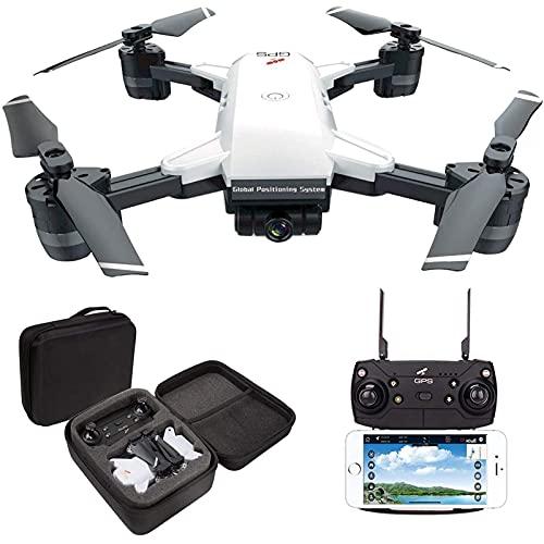 DCLINA Drone GPS con Fotocamera 1080P per Adulti Fotocamera grandangolare HD 120 ° 15 Minuti Tempo Combattimento 5G FPV Live Pieghevole con Borsa per Il Trasporto