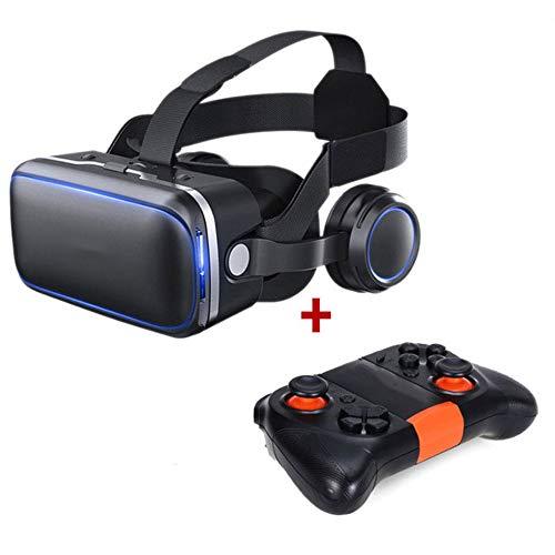 JIASHU VR Headset mit Fernbedienung, HD 3D VR Brille Virtual Reality Headset für VR Spiele und 3D Filme, VR Headset für 4.7-6.0 Zoll Android iOS Smartphones