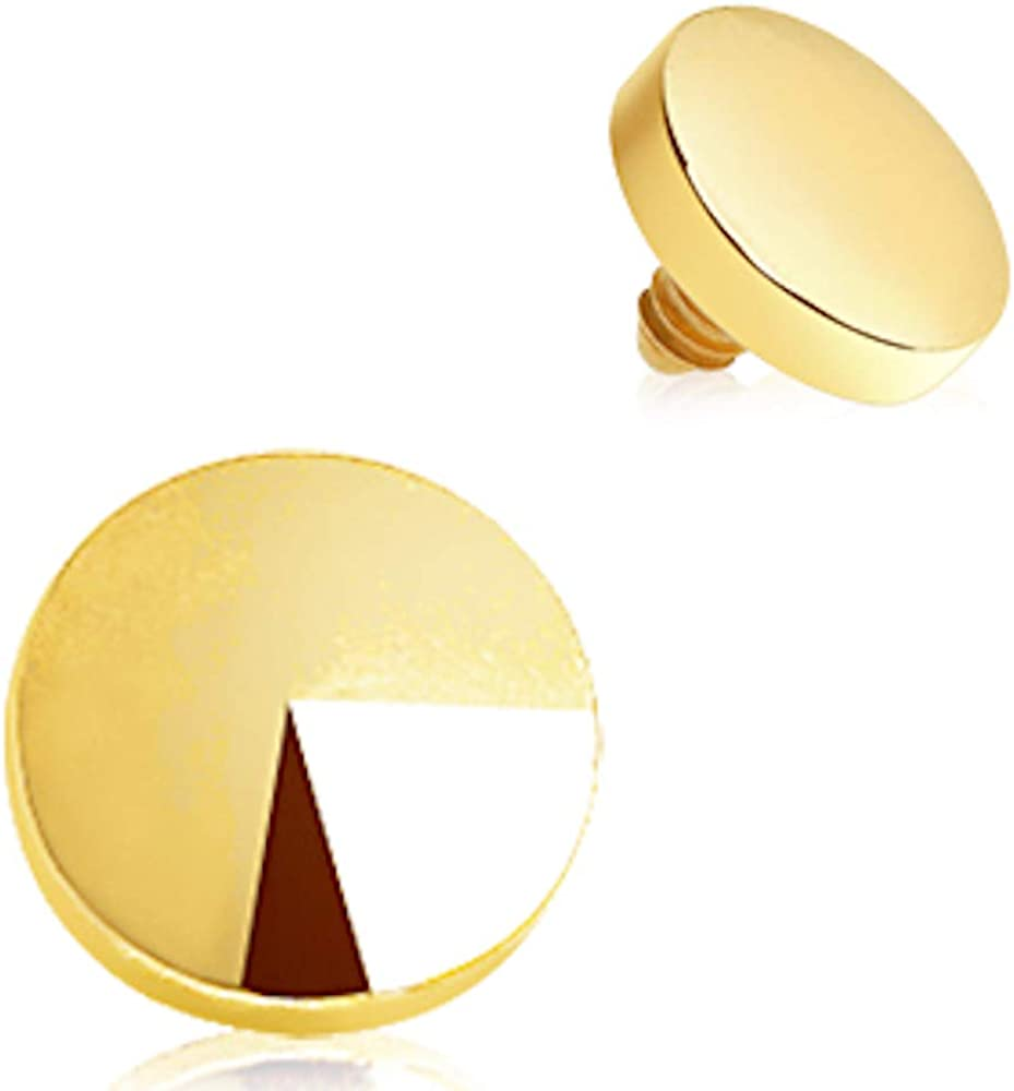 Covet Jewelry Gold Plated Disc Dermal Top