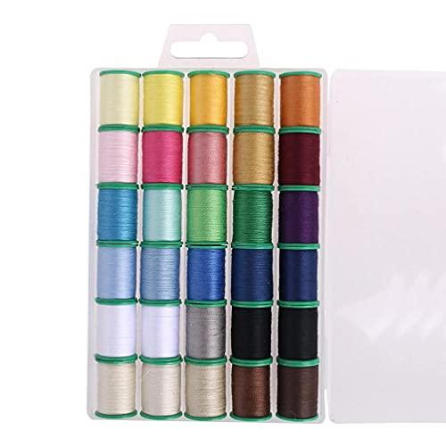 ZOUD Kit de hilo de coser para adultos y niños, reparación de coser, 30 piezas, juego de suministros de hilo de coser de lujo, con organizador y caja de coser