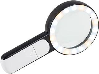 Tixiyu Vergrootglazen 30X, vergrootglas met licht 18LED verstelbare helderheid handheld grote glazen vergrootglas met lich...