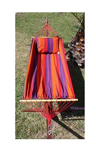 export sal hangmat Tropic lengte 295 cm van katoen met spreidstok zonder frame