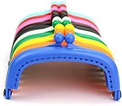 Kissdiy 10PCS Dia. 3.3 inch Plastic Purse Frame Coin Bag Kiss Clasp Lock DIY Craft Assorted 10 Colors