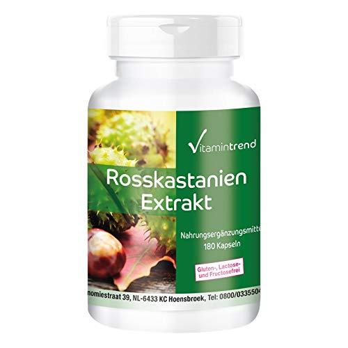 Rosskastanien Extrakt 300mg - 180 Kapseln - vegan - hochdosiert - 20% Aescin