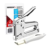 ARROW Staple Gun T50 Heavy Duty Kit with 1875 Staples and Remover