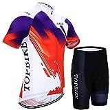 X-Labor - Maillot de ciclismo para hombre, talla grande, manga corta + pantalón con acolchado 3D, ropa para bicicleta, diseño de la talla A 5XL