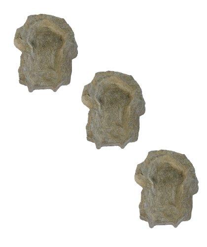 wasserkaskaden Grande Cascade Weser Granit LED, Gris/Vert, 3 pièces de 70 x 55 x 16 cm chacune