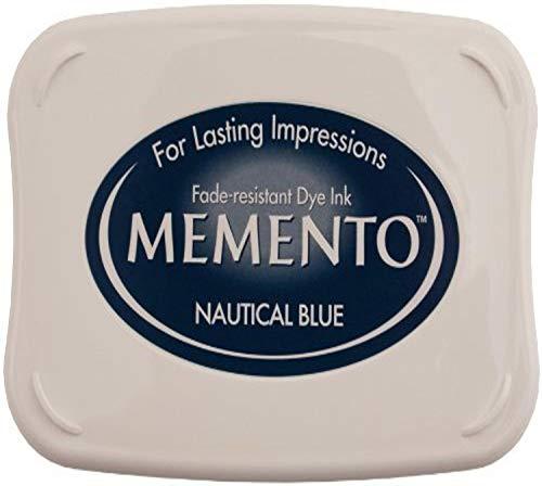 Tsukineko Memento Nautical - Almohadilla de Tinta, Color Azul