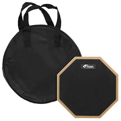 Tiger Music TDA4-10 25,4 cm Schlagzeug Übungspad mit Tragetasche - Desktop oder Ständer montierbar