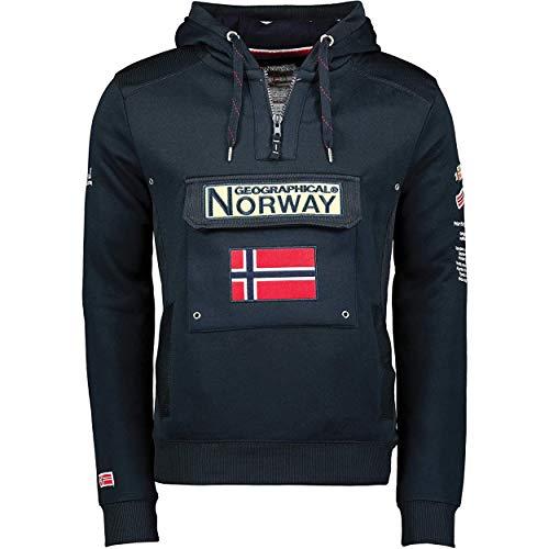Sudadera GYMCLASS de Hombre CSS Azul Marino XL Geographical Norway