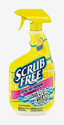 Scrub Free TOTAL BATHROOM CLEANER 32 oz OxiClean Lemon Scent Soap Scum 35240 NEW