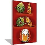 Beer Fusion Leinwand-Kunst-Poster und Wandkunstdruck,