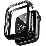 amBand Protector Apple Watch Serie 6/SE/5/4 /3/2/1 44mm, Funda Apple Watch con Vidrio Templado,Protector Pantalla iwatch Serie 6/SE/5/4 /3/2/1- Negro