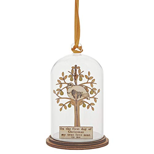 Kloche By Millbrook Gifts A30258 Partridge In A Pear Tree Ornament Small