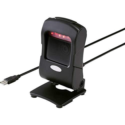 Lecteur de code-barres 2D Renkforce RF-4353432 filaire 2D imagerie noir scanner de bureau (stationnaire) USB 1.1, USB 2.