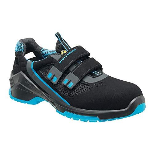 Steitz Secura C29826 ESD VD PRO 1000 S1 Sandale, Schwarz/Blau, XB Weite, 44 Größe