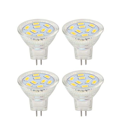 Gu4 Mr11 LED 12v 2w Lampen spots Lampe warmweiss 3000 K, ersetzt 20W Halogenlampen, HRYSPN 200lm, 120°Abstrahlwinkel.(4er Pack)