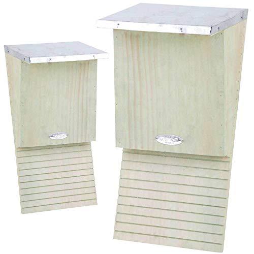 SIDCO Fledermauskasten 2 x Fledermaus Nistkasten Brutkasten Unterschlupf Fledermäuse