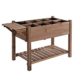 ✅PRACTICAL PLANT BED: This wooden flower bed has simple and rustic appearance, it's good for taking care of your lovely plants. It's corrosion resistant, ideal for outdoor using, you can place it in patio, balcony, or the garden if you like ✅SPACIOUS...