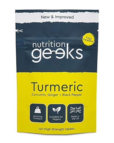 Turmeric Tablets 2000mg with Black Pepper & Ginger | 120 High Strength Curcumin Supplements | Turmeric and Black Pepper Tablets (Not Turmeric Capsules or Powder) | Vegan and Gluten Free | UK Made