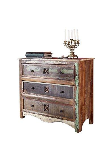 MASSIVMOEBEL24.DE Massivholz lackiert massiv Möbel Kommode Altholz Mehrfarbig Massivmöbel Möbel massiv Nature of Spirit #49
