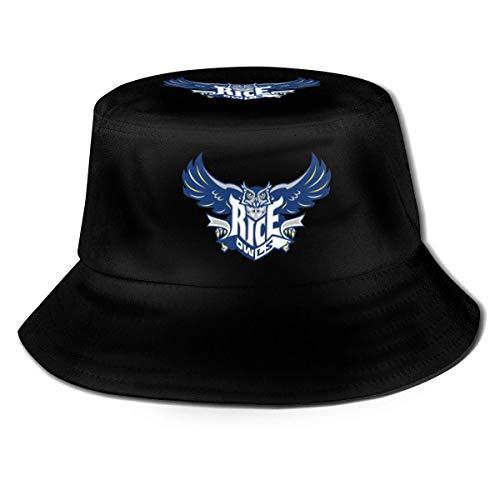 Hdadwy Rice University Interesante Sombrero de Pescador Summer Beach Sombrero de protección Solar Gorra al Aire Libre Unisex Negro