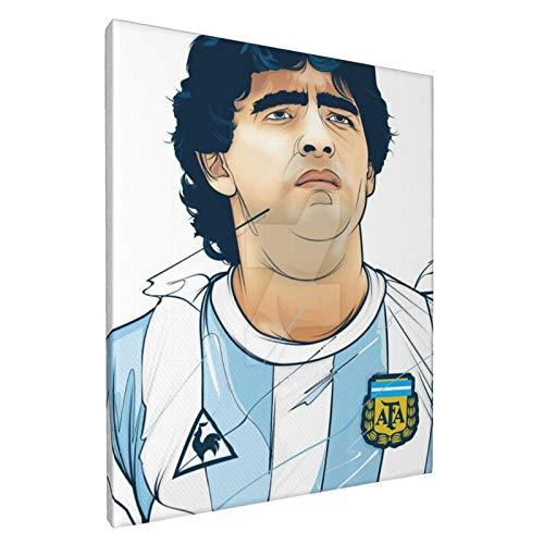 Voroy Wandbild, Motiv: Diego Armando Maradona The Diego, Mädchenzimmer, dekoratives Bild, Wandgemälde ohne Rahmen, für Zuhause, Hausdekoration, 20,3 x 30,5 cm