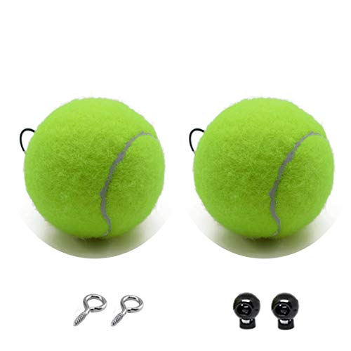 PAUTO-P Double Garage Parking Ball,Garage Parking Assist,Garage Tennis Ball,Garage Parking Aid   Ball Guide System,Parking Assistant kit Includes Tennis Ball with Rope, Adjustable Clip and Hooks